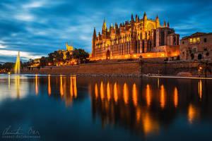Palma De Mallorca, La Seu Cathedral by Nightline