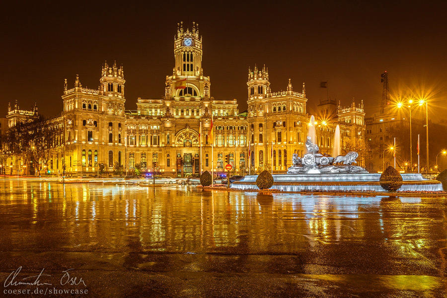 Plaza De Cibeles Madrid by Nightline