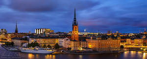 Stockholm Cityscape Panorama by Nightline