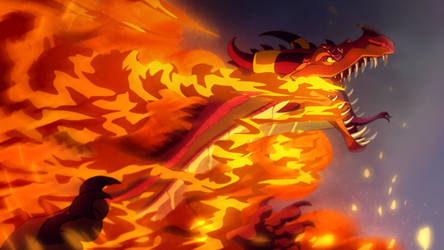 All Hail Queen Scarlet - Wings of Fire fanart by ScalyFloof