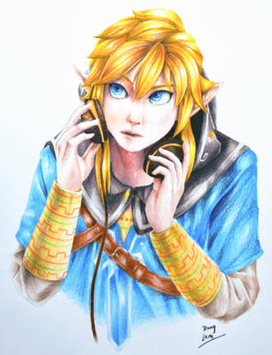 Breath of the Wild Link with Headphones by ZtheSOI