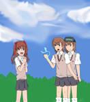 Two Onee-sama's( Toaru Kagaku no Railgun) by Phatom12