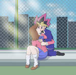 Commission: Yugi and Tea by Phatom12
