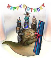 Jabba Hutt's Birthday present by BobbyBobby85