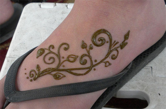 Henna Vines Foot Henna By Flowerwills On Deviantart