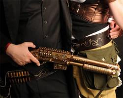 Truth Seeker Steampunk Shotgun by flowerwills