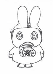 Miffy's Gas Mask by flowerwills