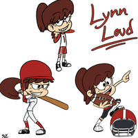 Loud House - Lynn Sports Collection by zRei