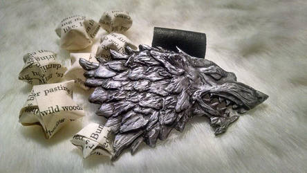 Hand Sculpted Dire Wolf by SmileyVamp