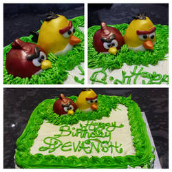 Angry Birds Cake by unknowndesires-sonia