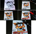 Crash Bandicoot (sketch on block notes) by Polimar69