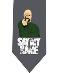 Say My Name Grey Tie - model 2 by CoolTies