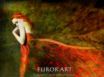 Where the earth sinks into the poppies by FurorArt