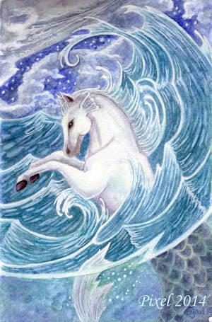 Hypocampus - waterhorse by Pixelbgood
