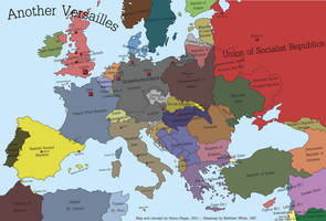 Another Versailles - alternate history map by SRegan
