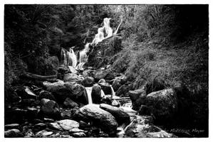 Torc Waterfall BW by The-BigGuy