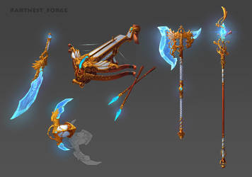 weapon set #1 by Asgerd-art