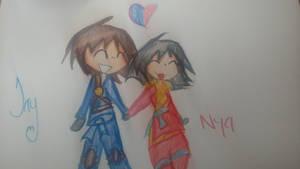 Ninjago: Jay x Nya by Ninjagomonster