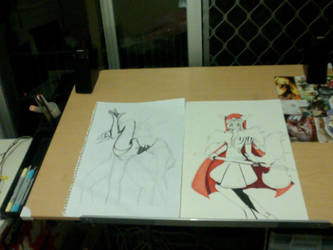 my new art desk from christmas by Kirst3