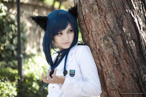 SNSD Ahri cosplay From LOL by altugisler