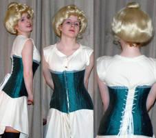 Edwardian corset by betapleatedsheet