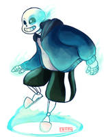 Quick draw of sans by W00tification