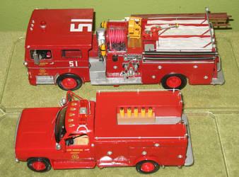 Squad 51 and Engine 51 by darkeyes212