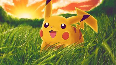 Pikachu by Curehappy2345