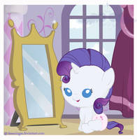 Little pony: Baby Rarity by FreeWingsS