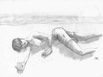 durmiendo en la playa by Alfonzzz105