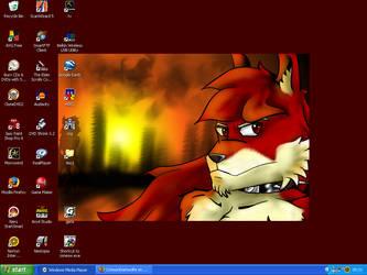 Desktop of doooom II by CrimsonDarkwolfe