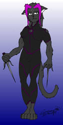 Ninja Catgirl by CrimsonDarkwolfe
