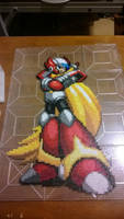 Zero from Megaman X Perler Fin by MaraVWGolf