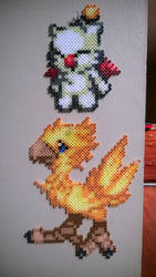 Card Saga Wars  Moogle and Chocobo by MaraVWGolf