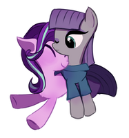 Maud And Starlight Glimmer by MillionCookies