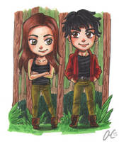 Chibi Comission Bellamy Octavia Blake The 100 by Valaquia