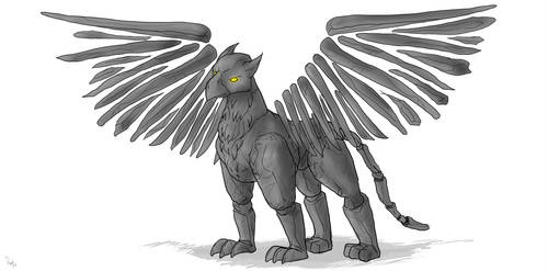 Rock Gryphon by AD-Ink