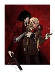 Alucard and Integra by ChrissyDelk