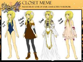OA - Arcelia closet meme by Fortranica
