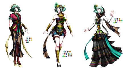 PN - Anila alternate outfits by Fortranica
