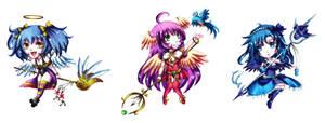 Chibi Comm: Sugar Paradise Girls by Fortranica