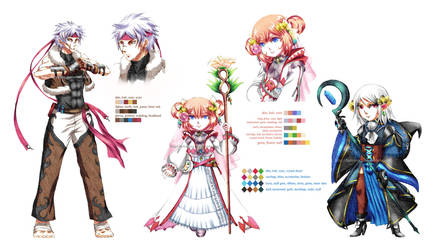 Crystal Tales: OCs + NPC ref by Fortranica