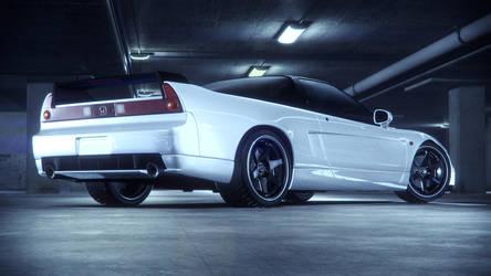 Honda NSX Back white by NasG85