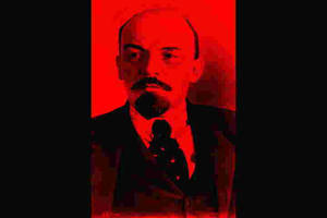 Lenin, in red by christiansocialism