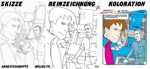 WACOM Comic - making of by Millus