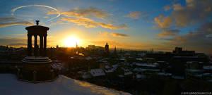Edinburgh Winter Skyline by gdphotography