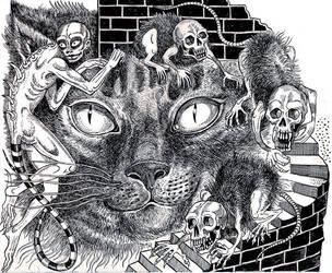 H.P. Lovecraft Sketch 3 by babygraceblue