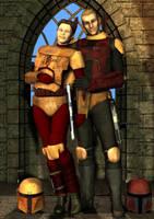 Married Mando'ade, no helmets by Colonel-Azzameen