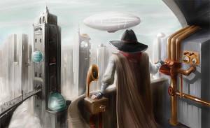 steampunk city by activateru