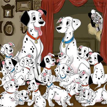 101 dalmatians by Brunamf